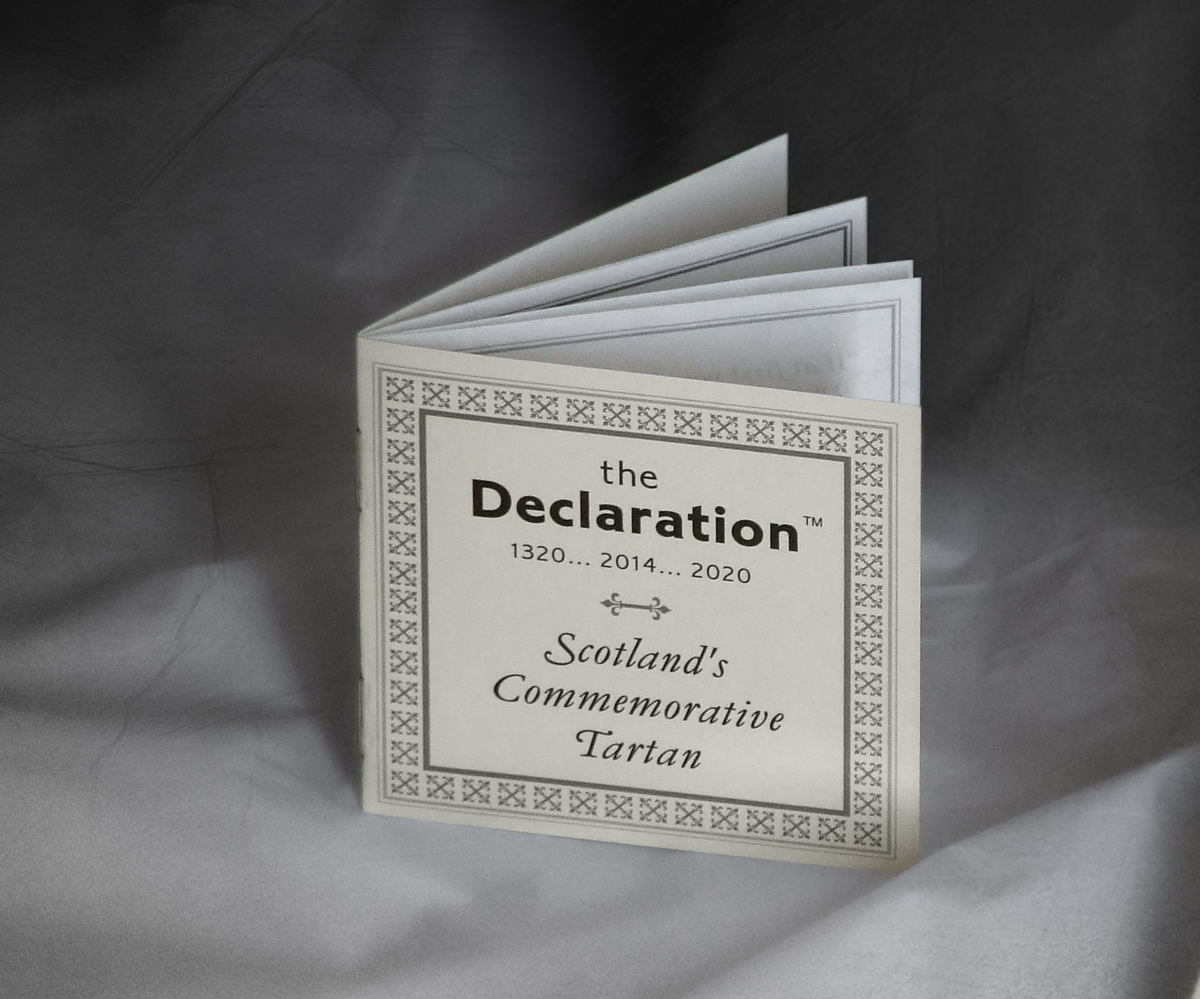 The Declaration Tartan ...wee bookie with the story in the weave