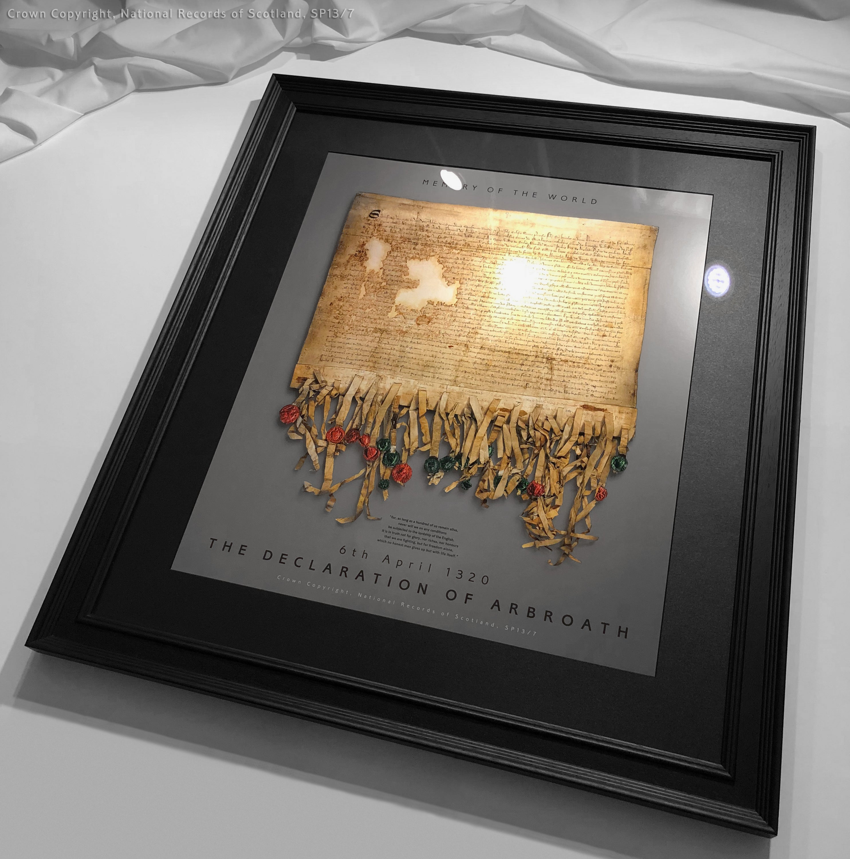 The Declaration of Arbroath Gold Metallic Print Editions - Pewter - Only 700 copies