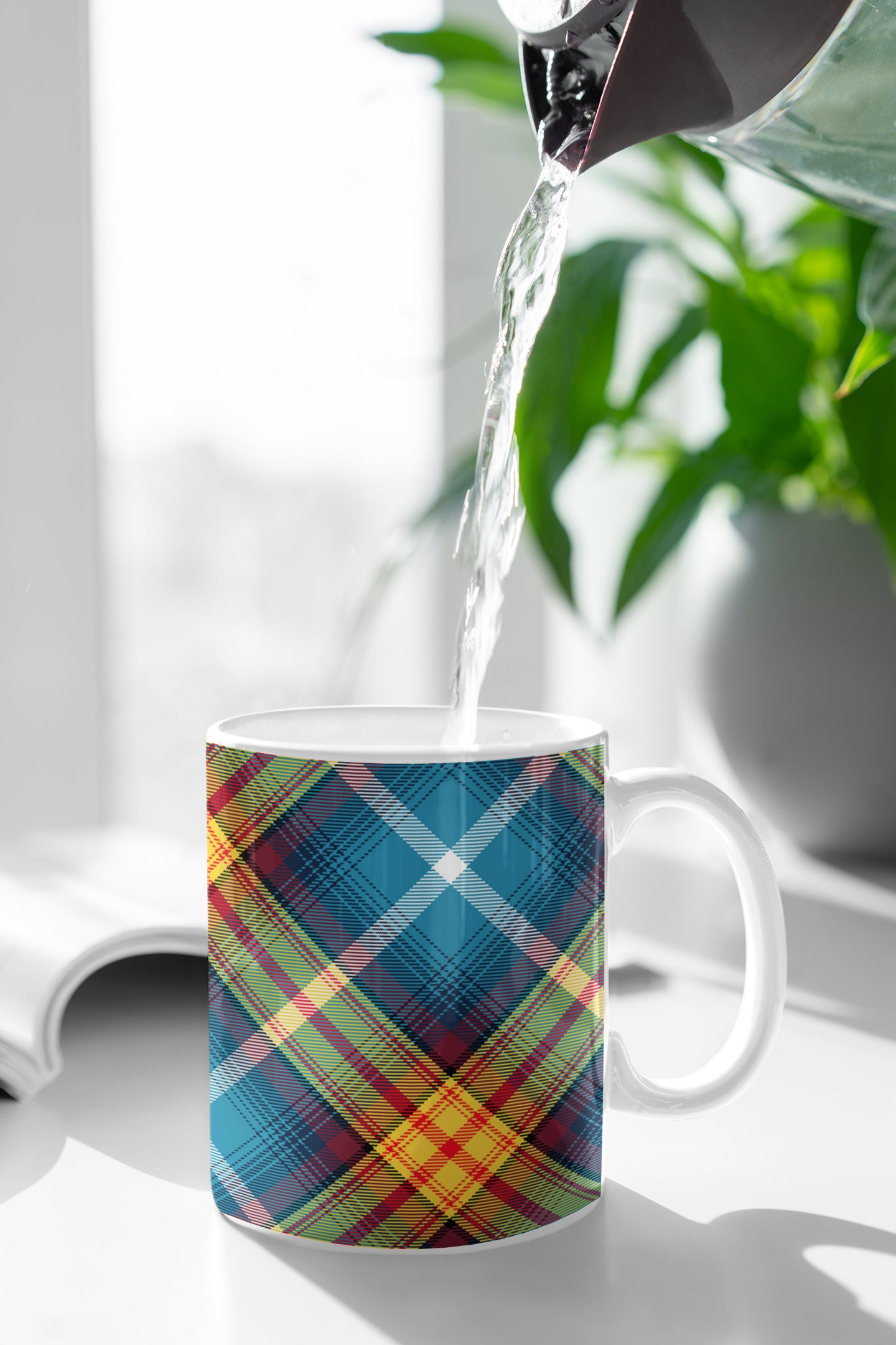 Declaration of Scottish Independence Arbroath 6th April 1320 Steven Patrick Sim Tartan mug for tea and coffee