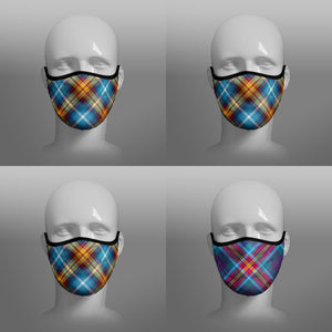 Tartan Face coverings face masks by Steven Patrick Sim the Tartan Artisan - including Declaration of Arbroath Scottish Independence - YES Alba Gu Brath