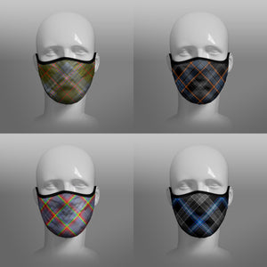 Tartan Face coverings face masks Covid 19 Covid-19 Pandemic Coronavirus Virus cough sneeze by Steven Patrick Sim the Tartan Artisan Stevie Tartan Guy - including Red Lichtie Spitfire - North Sea Oil - Hope Rainbow NHS Scotland's Grace Nicola Sturgeon Scotland homeless - four pack combo