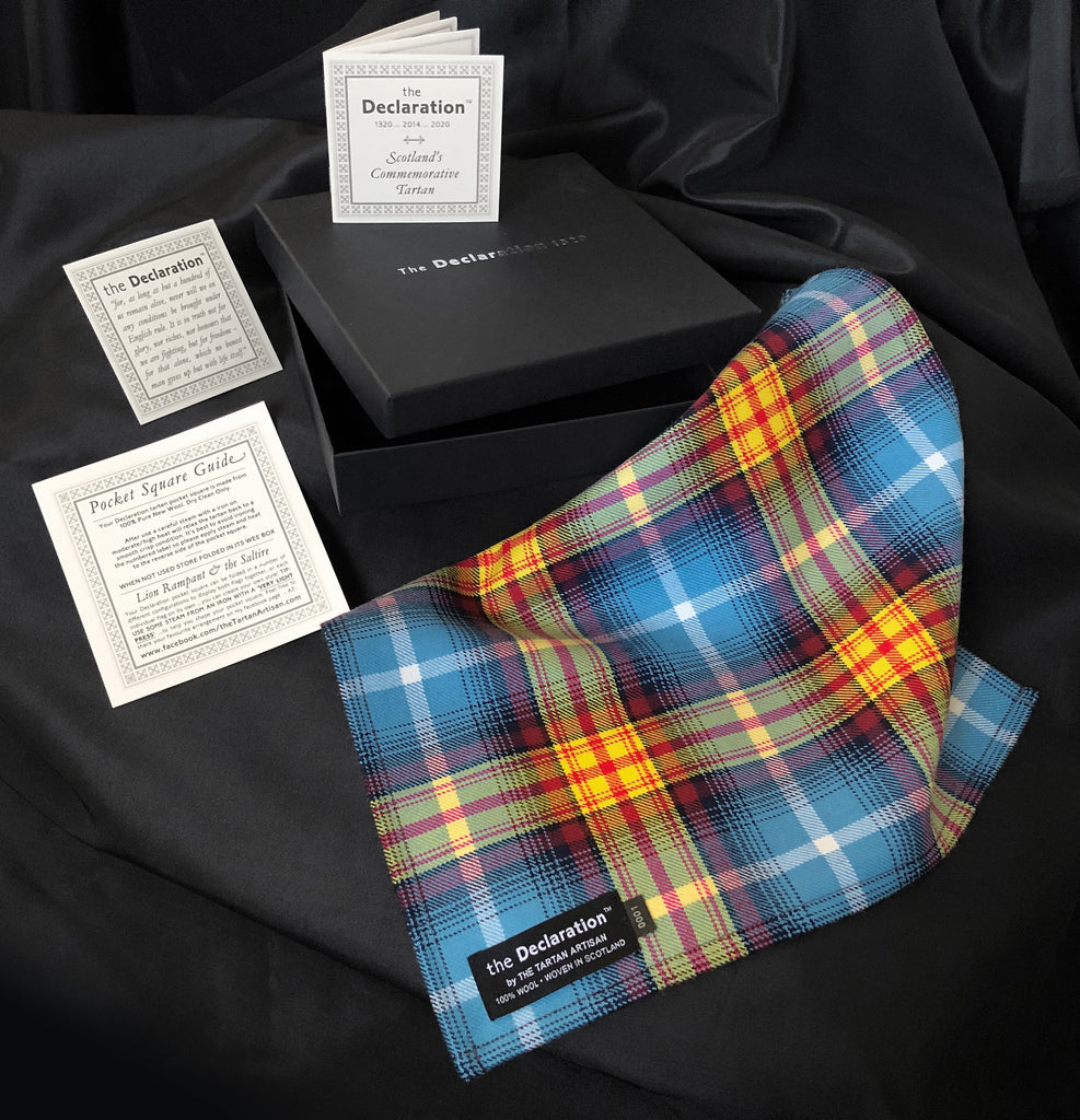 The Declaration of Arbroath tartan Pocket square