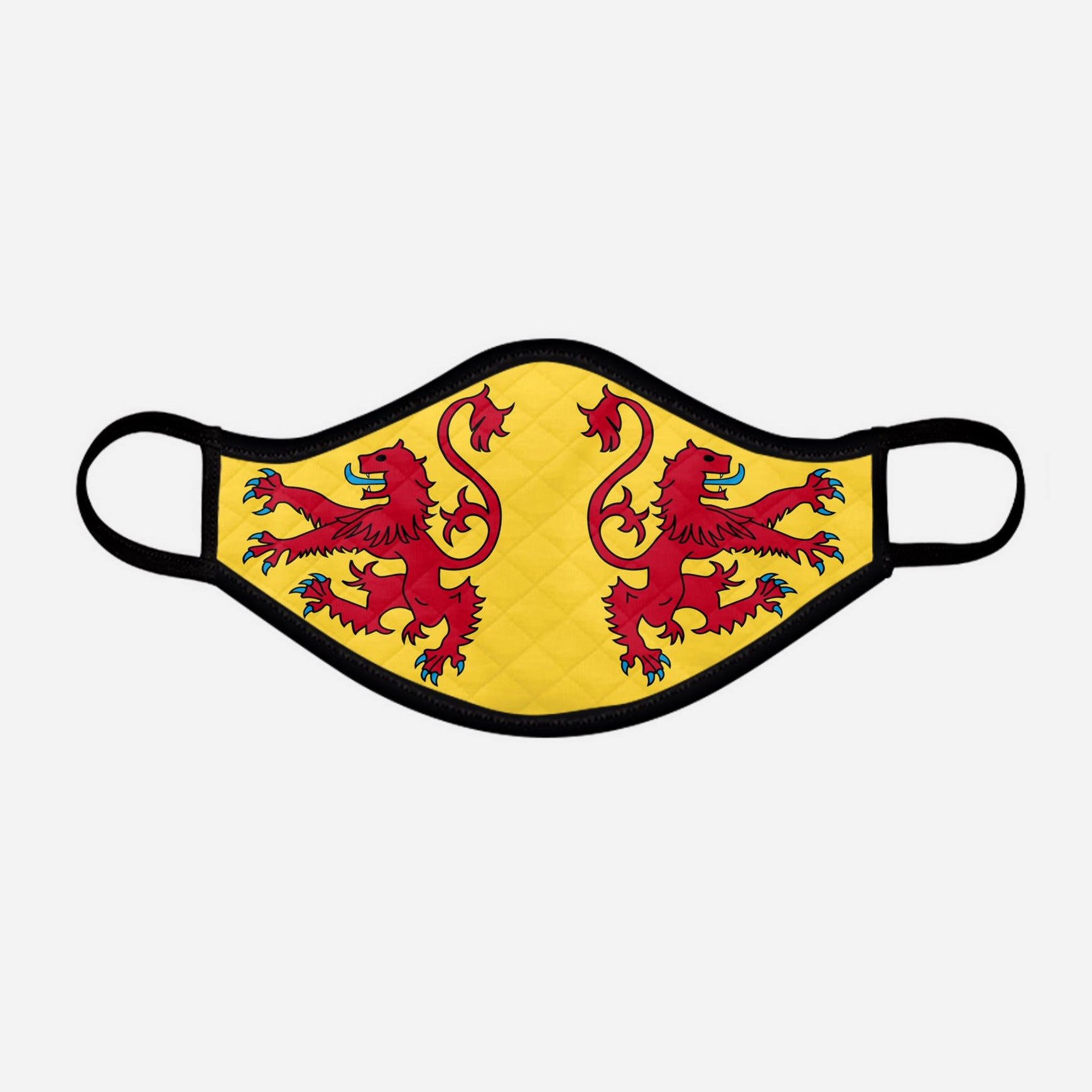 The Scottish Lion Rampant Royal Standard of Scotland Face Mask - Medium - by the Steven Patrick Sim Tartan Artisan - Stevie Tartan Guy Arbroath, Scotland