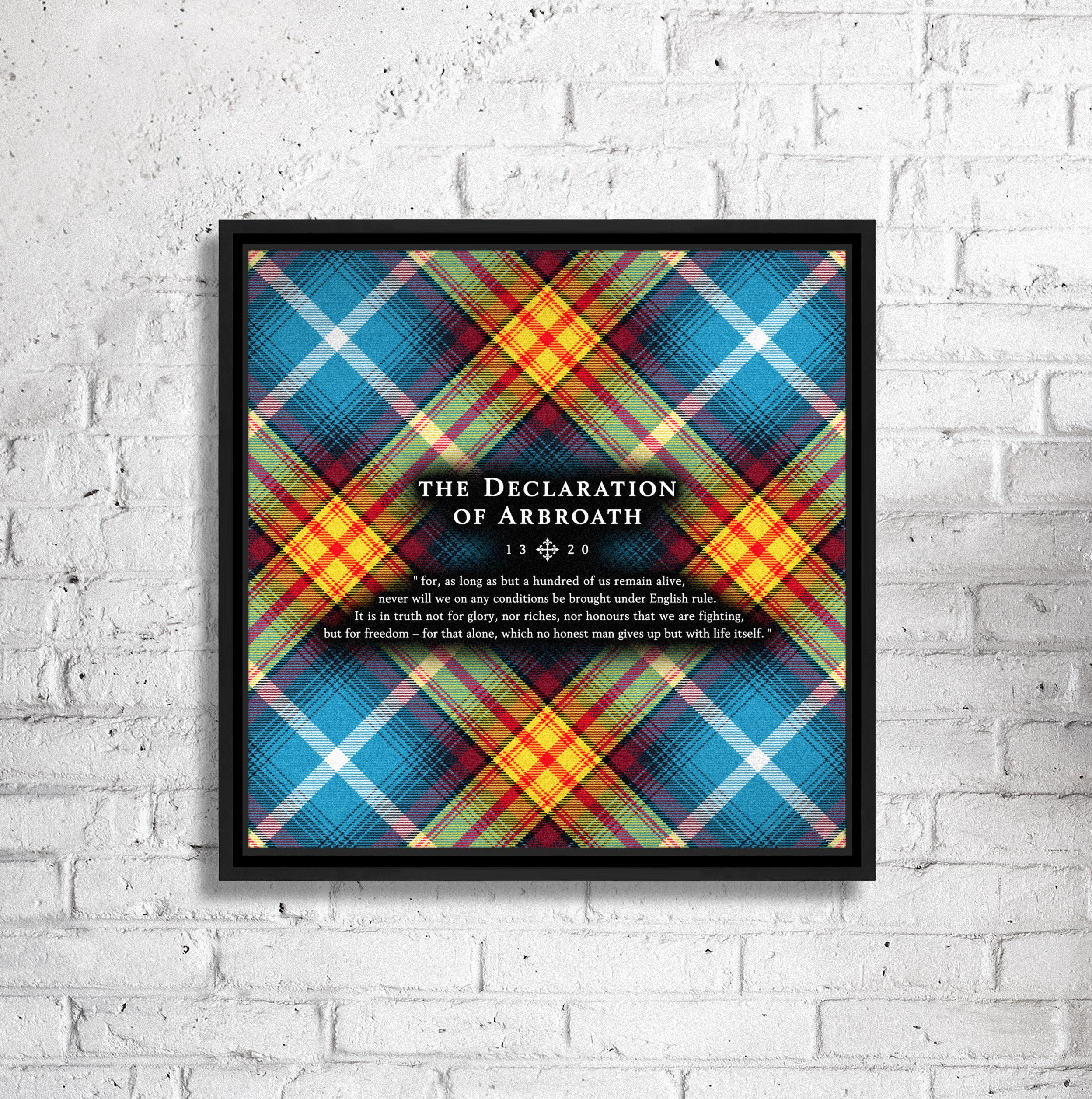 "Lion Rampant - Declaration Tartan 16"" Framed Canvas"