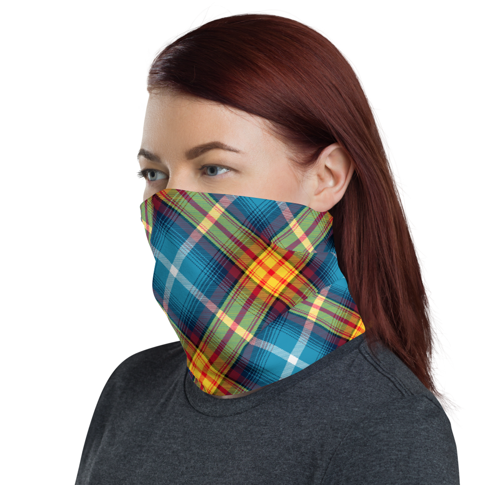 Lion Rampant and ancient azure Saltire Declaration of Scottish Independence tartan Neck Gaiter 11