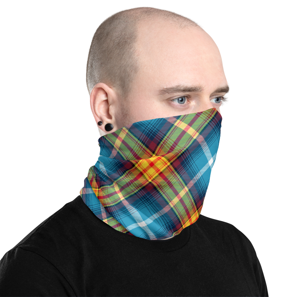 Saltire Declaration of Scottish Independence tartan Neck Gaiter 3