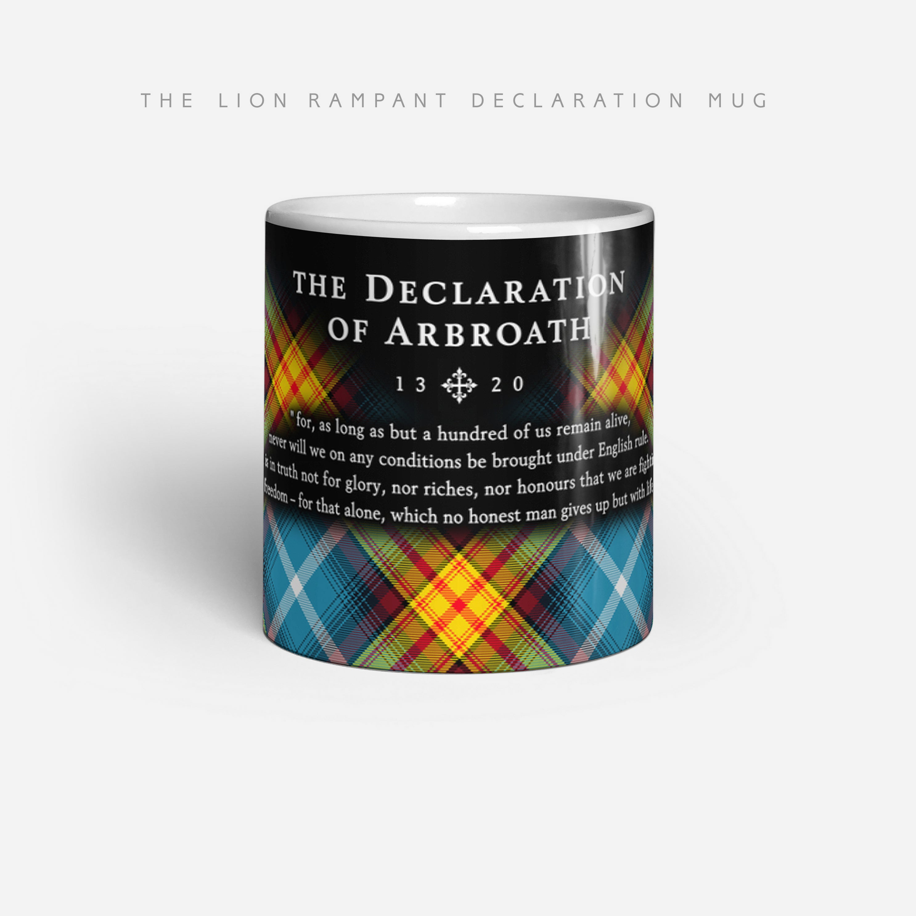 Declaration of Arbroath Tartan LION RAMPANT Mug by Steven Patrick Sim