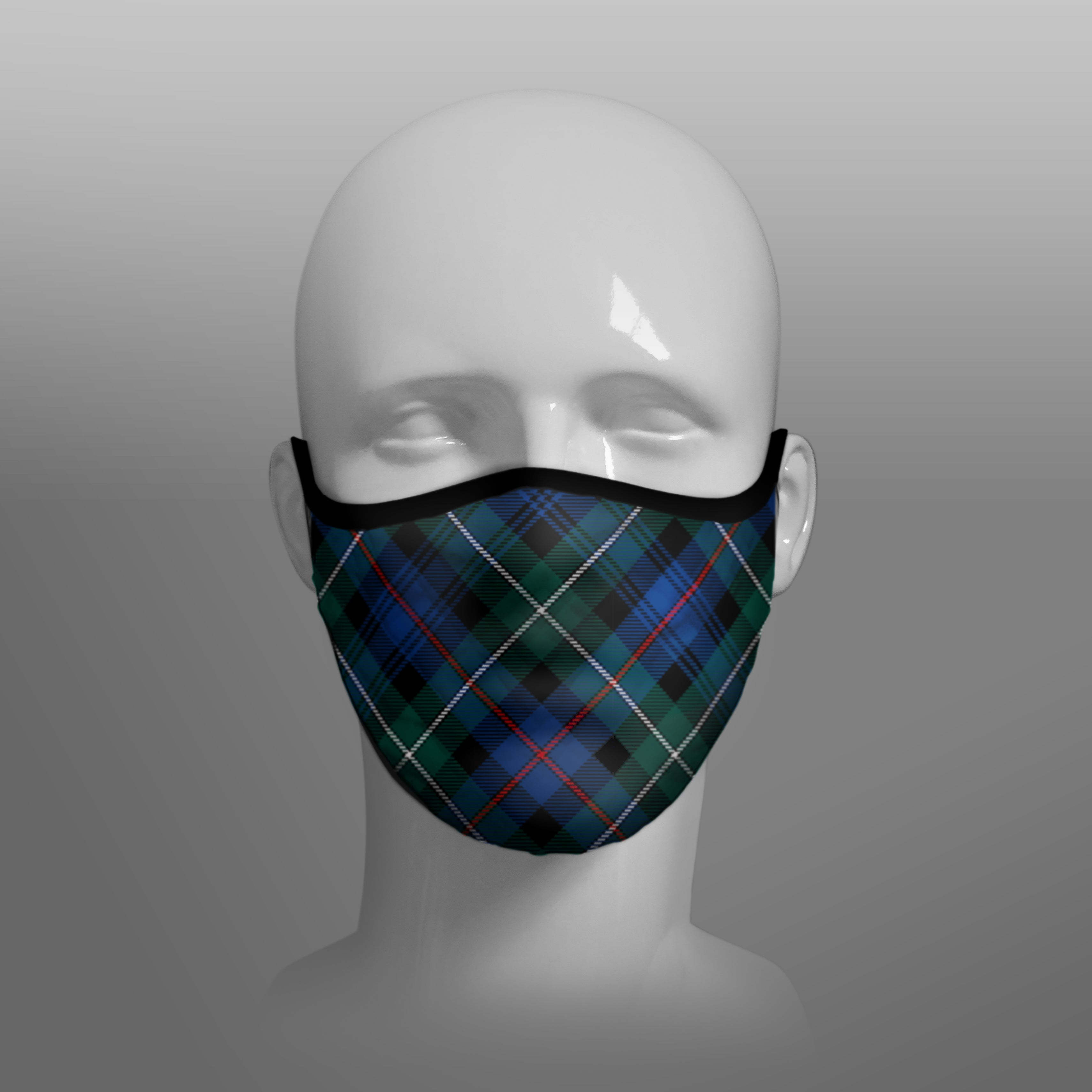 Mackenzie Tartan custom face mask by Steven Patrick Sim the Tartan Artisan - Stevie Tartan Guy - Arbroath