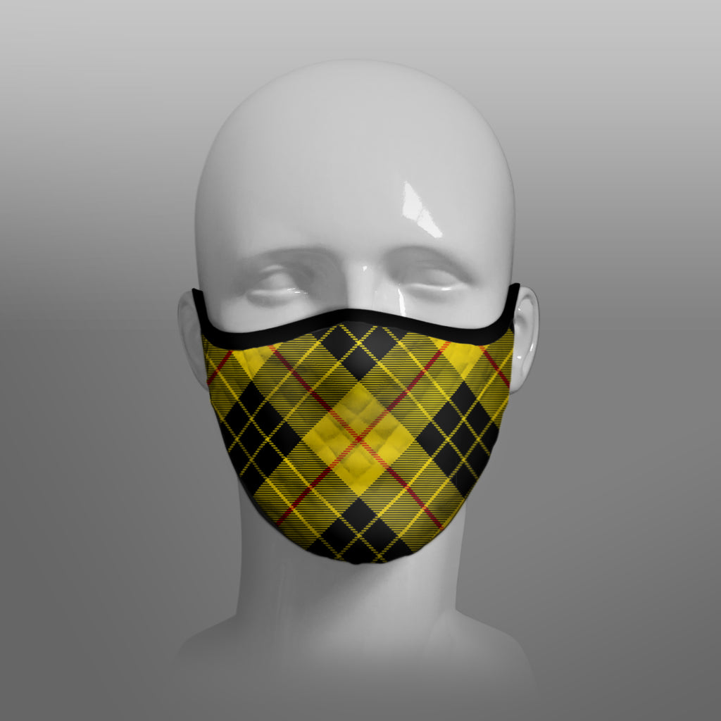 Macleod Tartan custom face mask by Steven Patrick Sim the Tartan Artisan - Stevie Tartan Guy - Arbroath