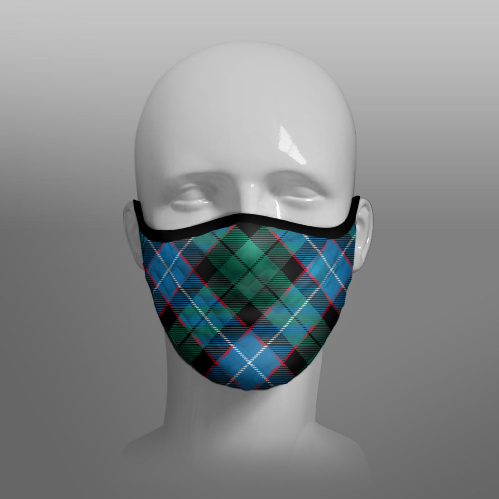 Mitchell Tartan custom face mask by Steven Patrick Sim the Tartan Artisan - Stevie Tartan Guy - Arbroath