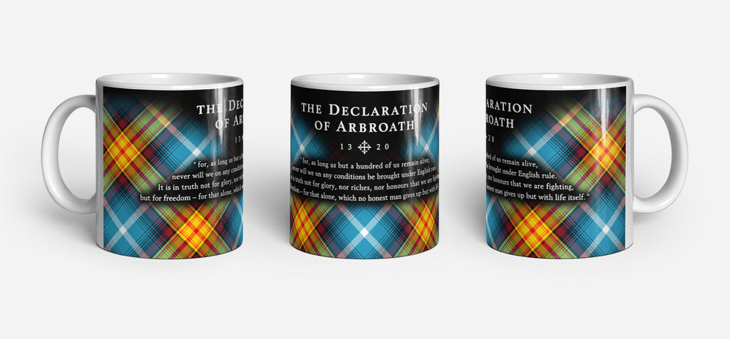 The Declaration of Arbroath Tartan Ancient Saltire Ceramic Mug