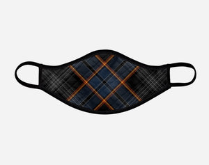North Sea Oil Tartan Custom Facemask - Small - by Steven Patrick Sim the Tartan Artisan Arbroath
