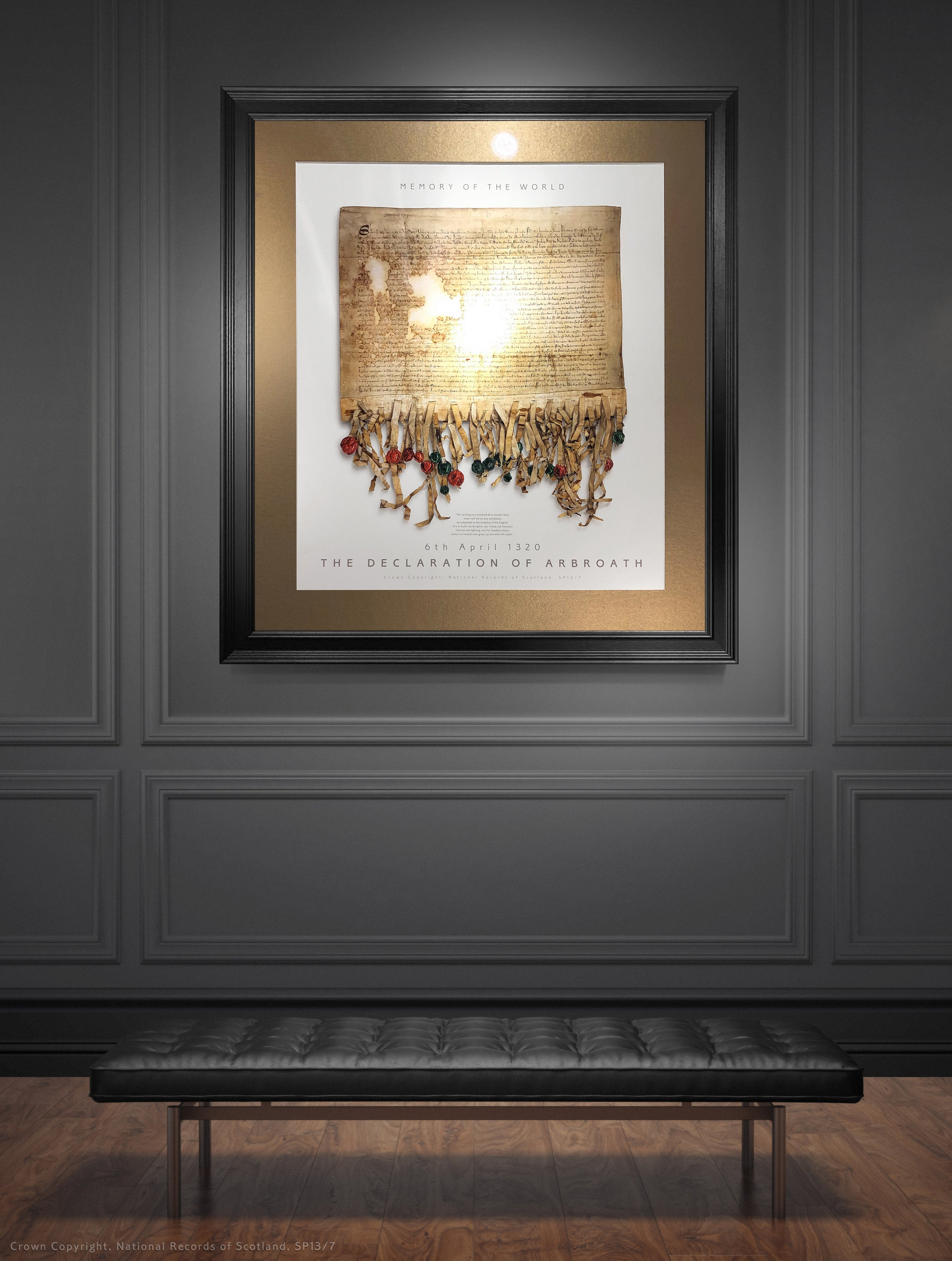 The Declaration of Arbroath Gold Metallic Print Editions - Pearl by Steven Patrick Sim
