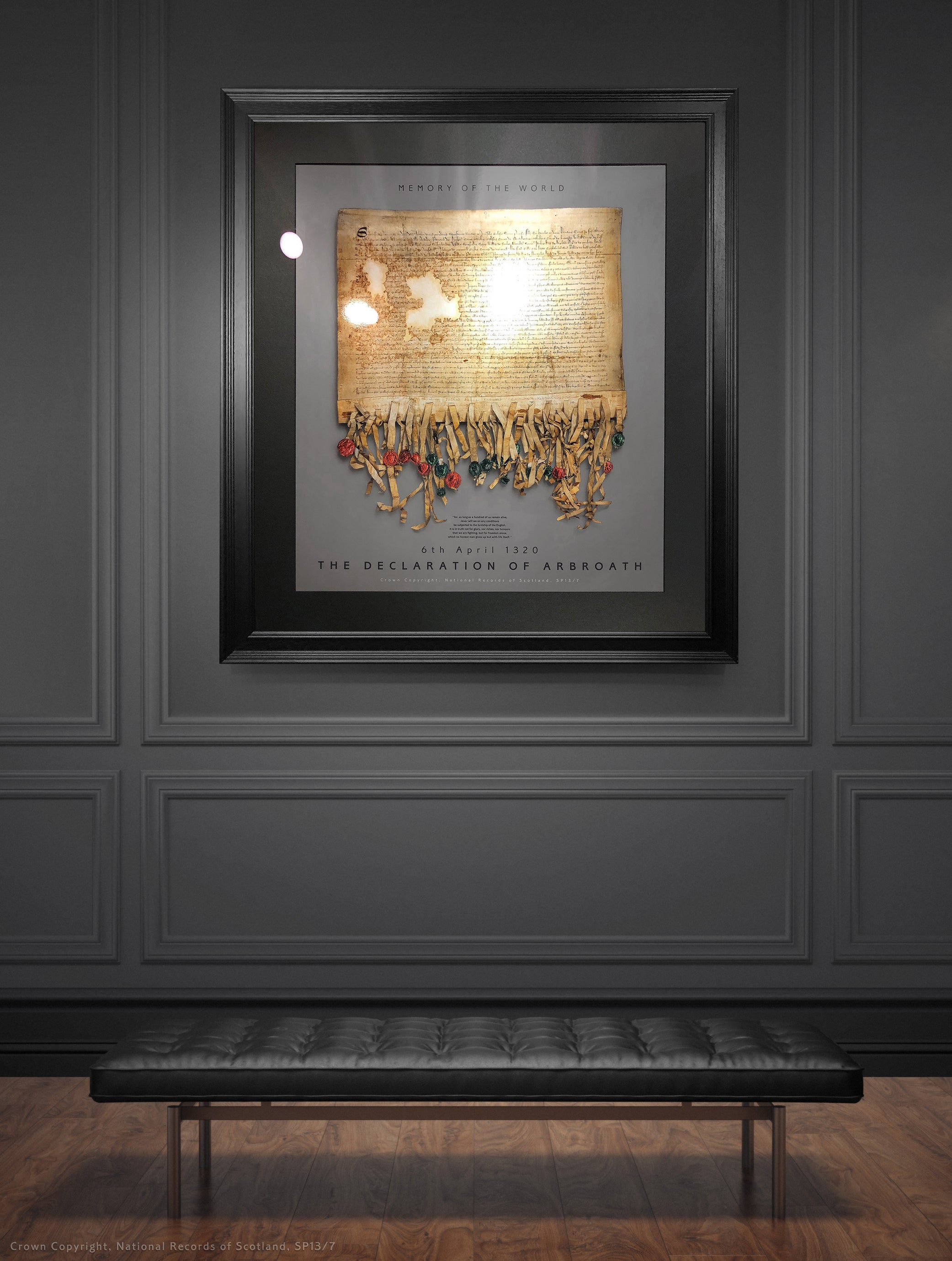 The Declaration of Arbroath Gold Metallic Print Editions - Pewter by Steven Patrick Sim