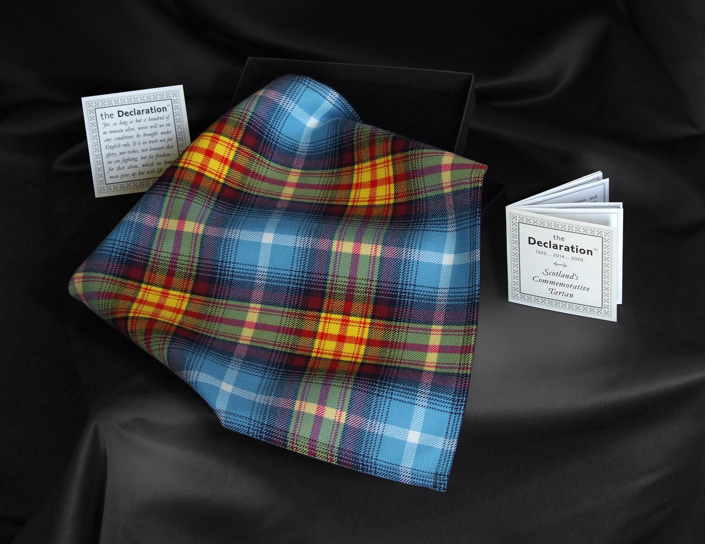 Designer Declaration of Arbroath tartan pocket square