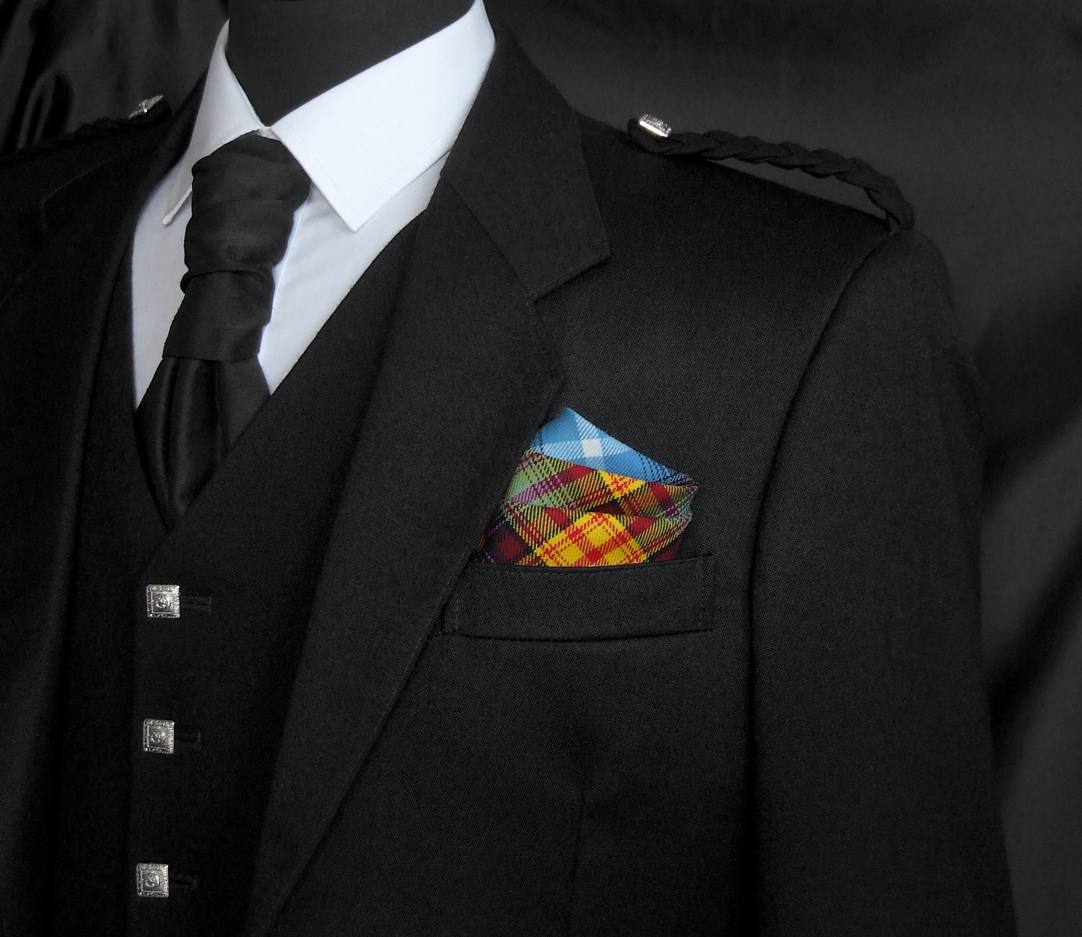 Declaration of Arbroath tartan designer pocket square