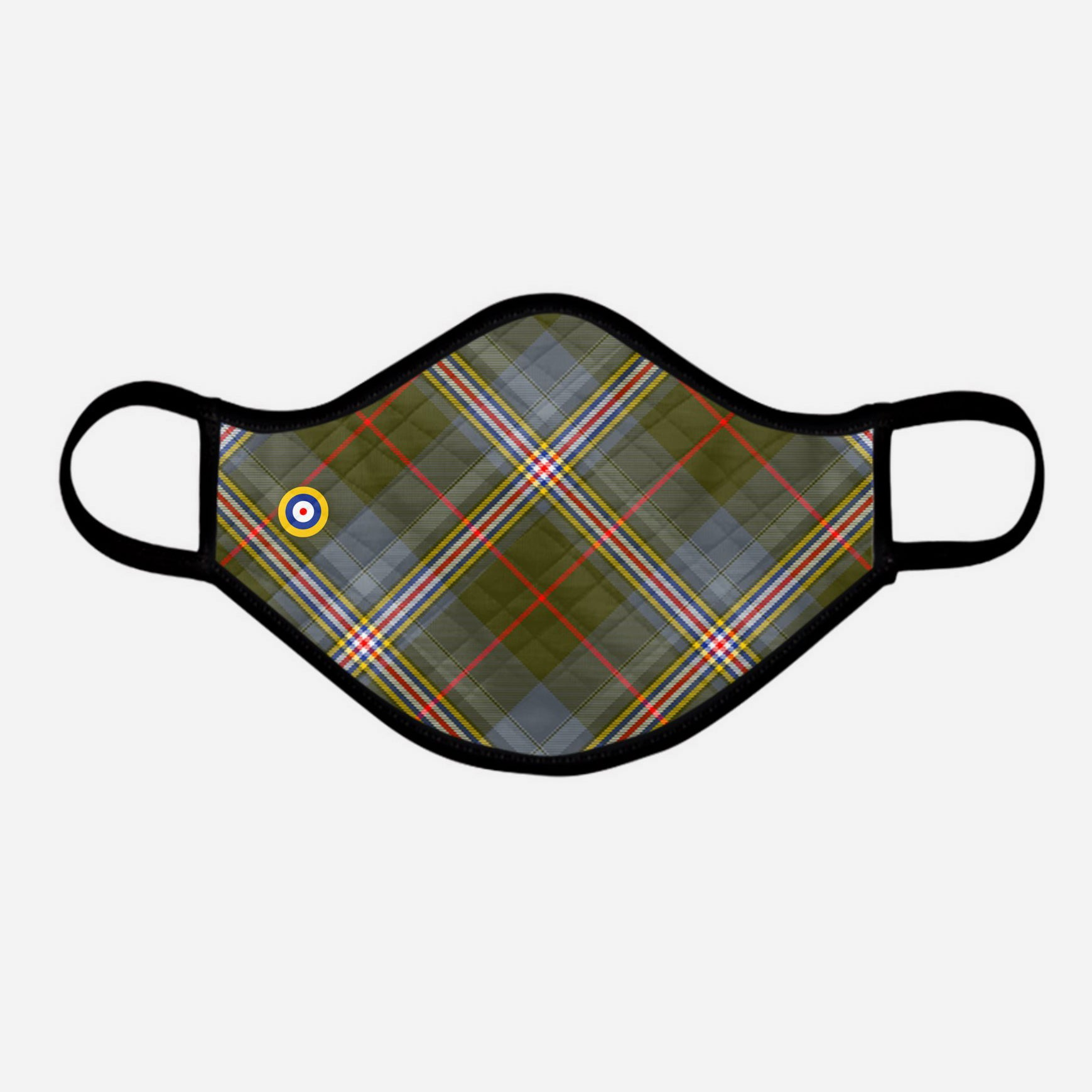 Red Lichtie Spitfire Tartan Face Mask Cloth Face Coverings extra large