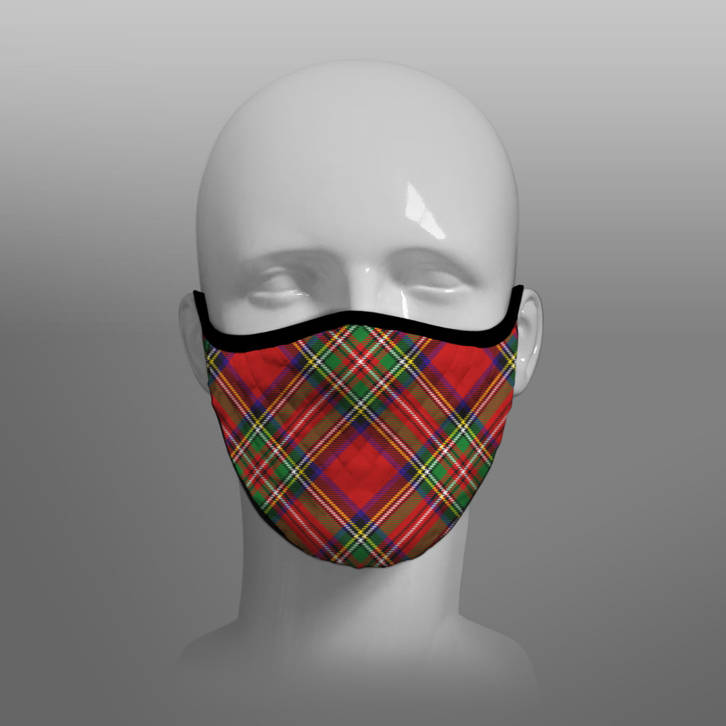 Royal Stewart Tartan custom face mask by Steven Patrick Sim the Tartan Artisan - Stevie Tartan Guy - Arbroath