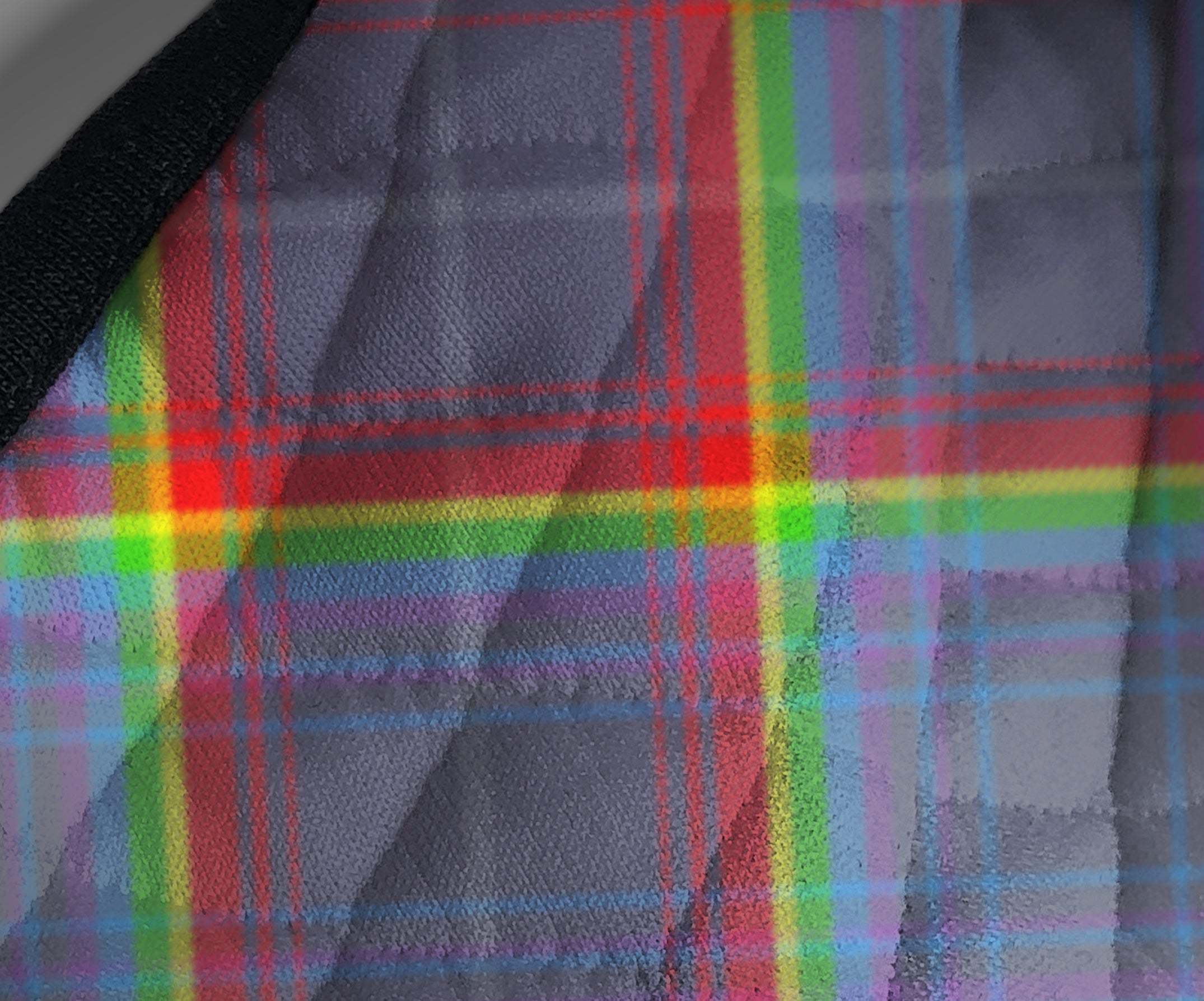 Scotland's Grace the Hope Rainbow - NHS - Contoured Tartan custom printed face mask - by Steven Patrick Sim the Tartan Artisan - Stevie Tartan Guy Arbroath