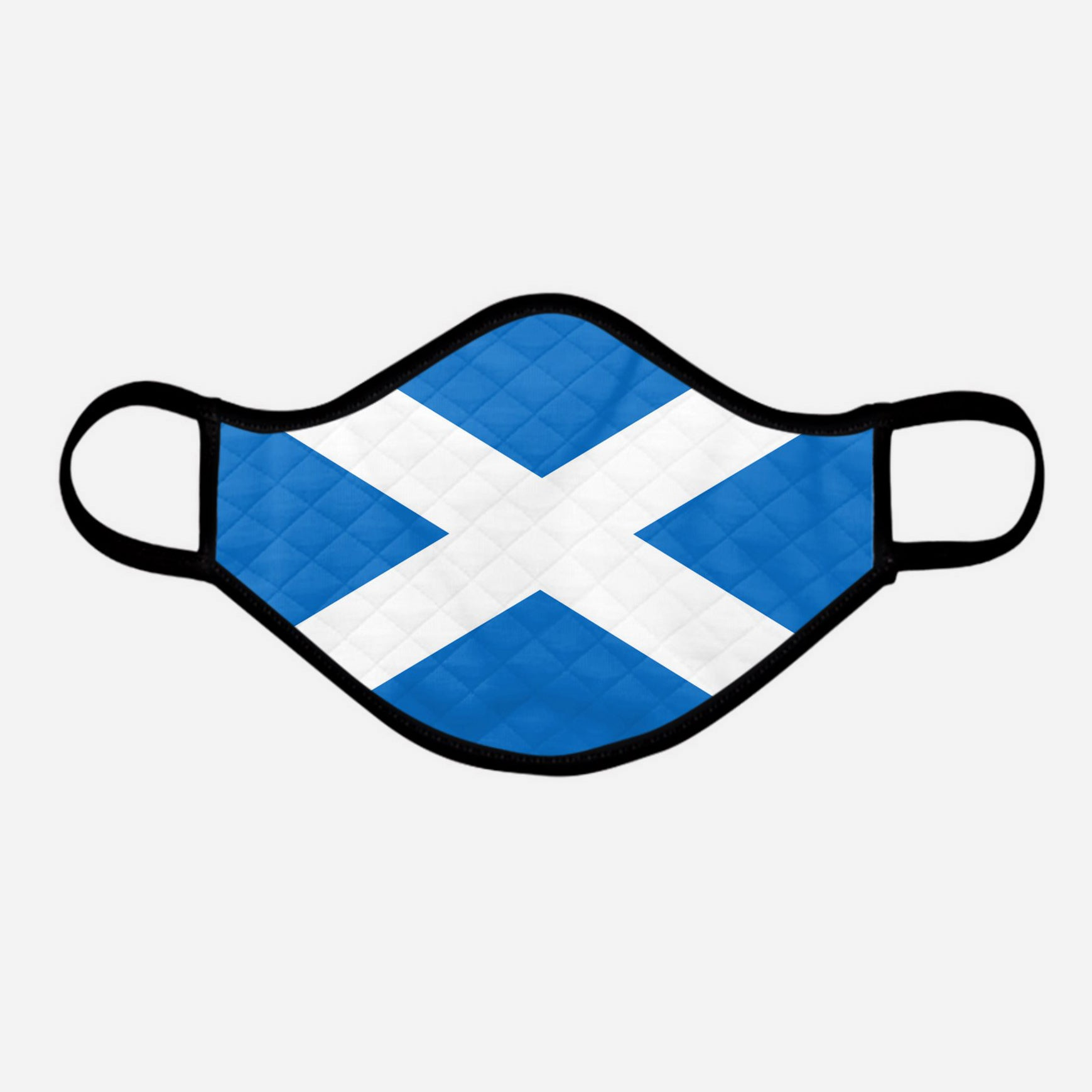 The Scottish Saltire Face Mask - Extra Large - by the Steven Patrick Sim Tartan Artisan - Stevie Tartan Guy Arbroath, Scotland - mixed pack of 4 or 2