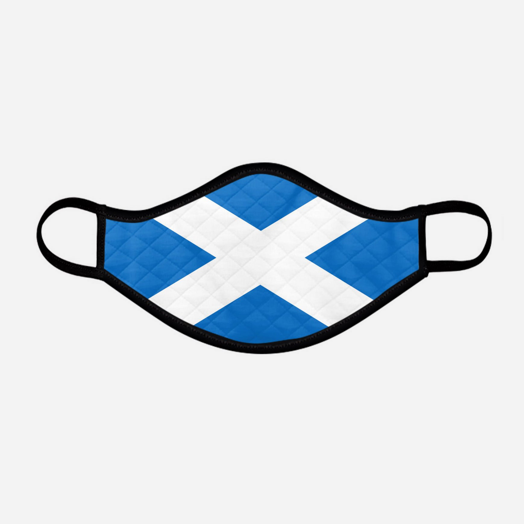 The Scottish Saltire Face Mask - Medium - by the Steven Patrick Sim Tartan Artisan - Stevie Tartan Guy Arbroath, Scotland - mixed pack of 4 or 2