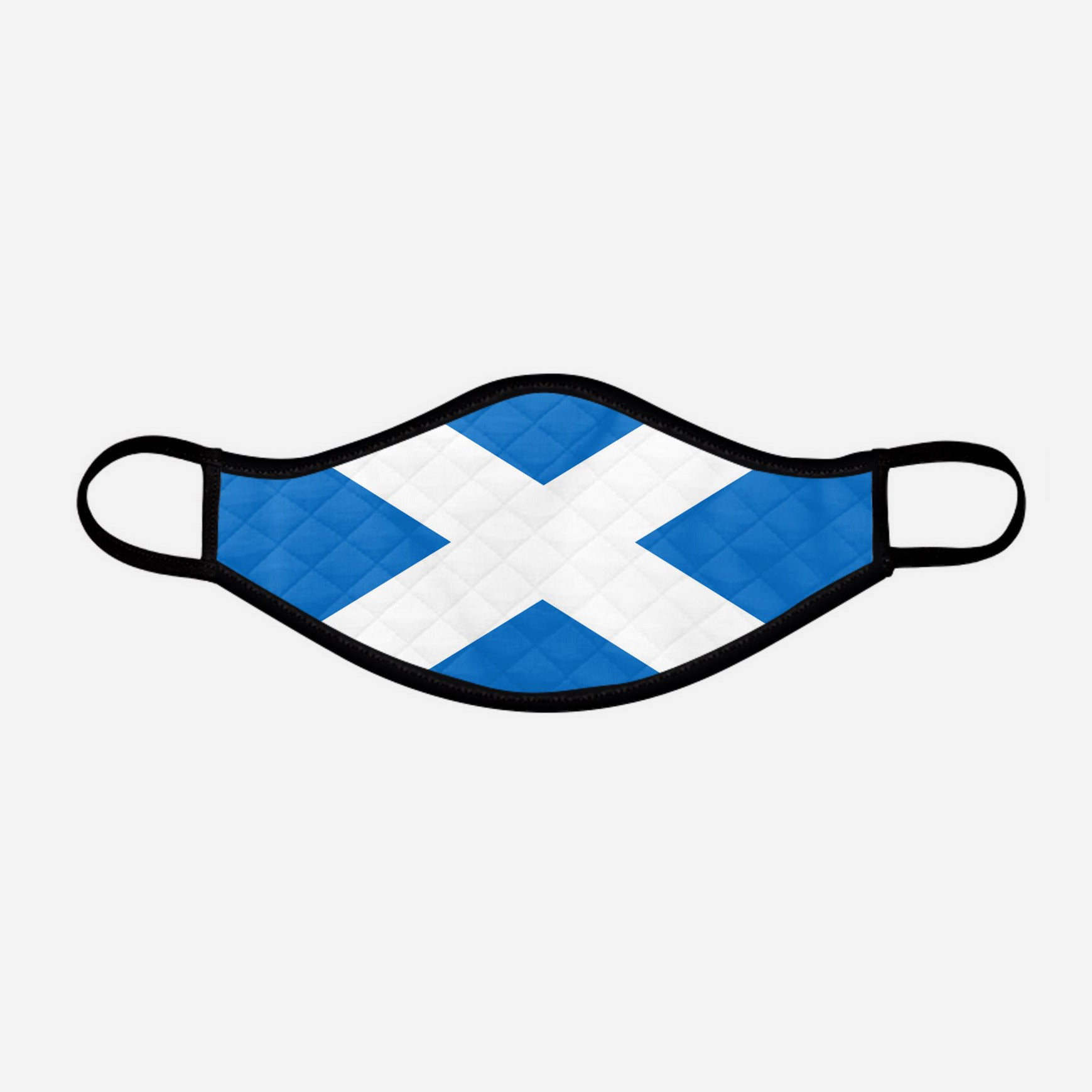 The Scottish Saltire Face Mask - Small - by the Steven Patrick Sim Tartan Artisan - Stevie Tartan Guy Arbroath, Scotland - mixed pack of 4 or 2
