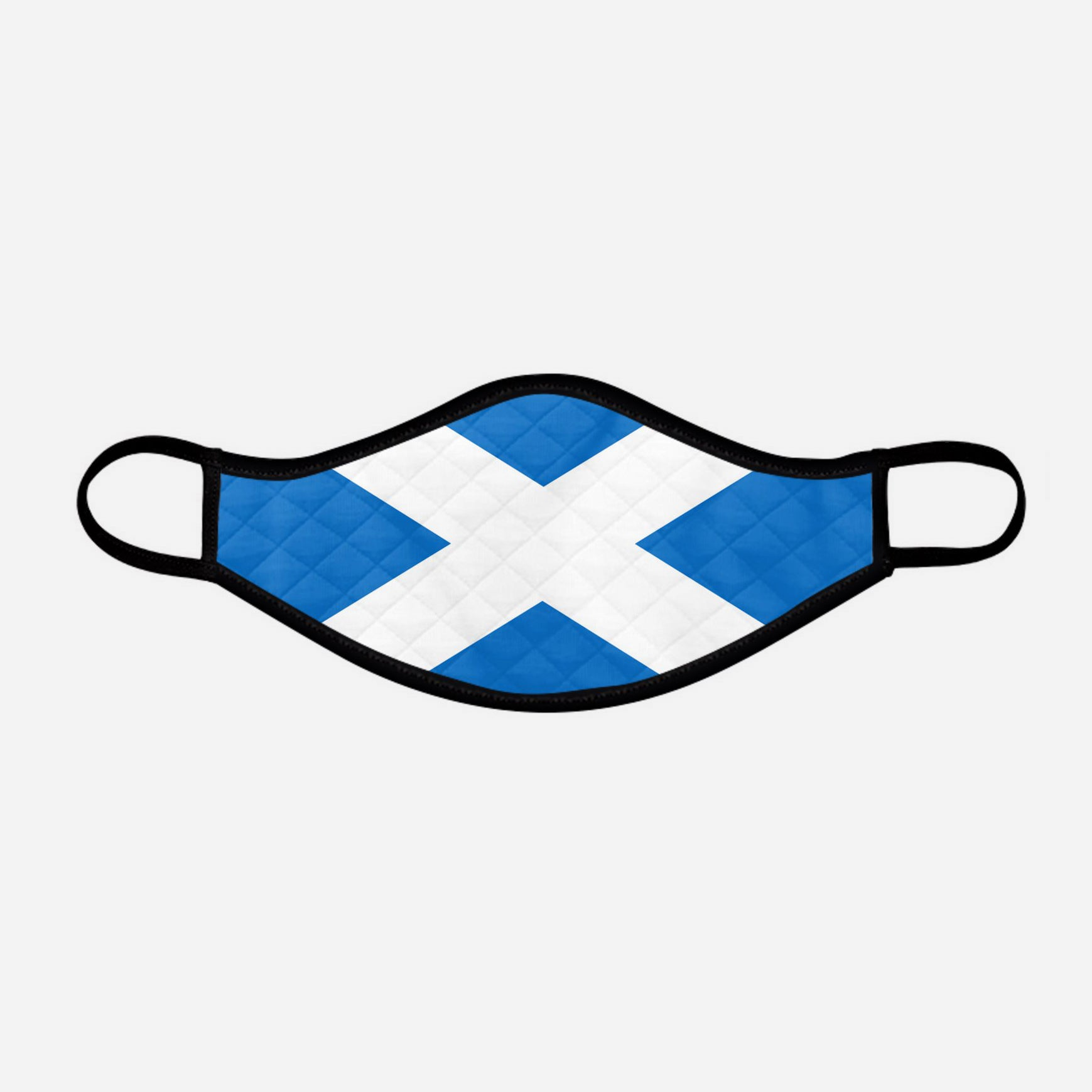Scottish Saltire face mask cloth covering small