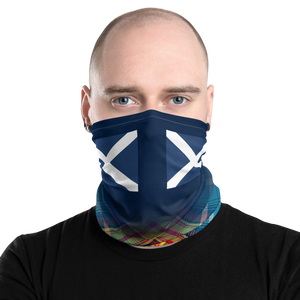 Saltire Declaration of Scottish Independence tartan Neck Gaiter 7