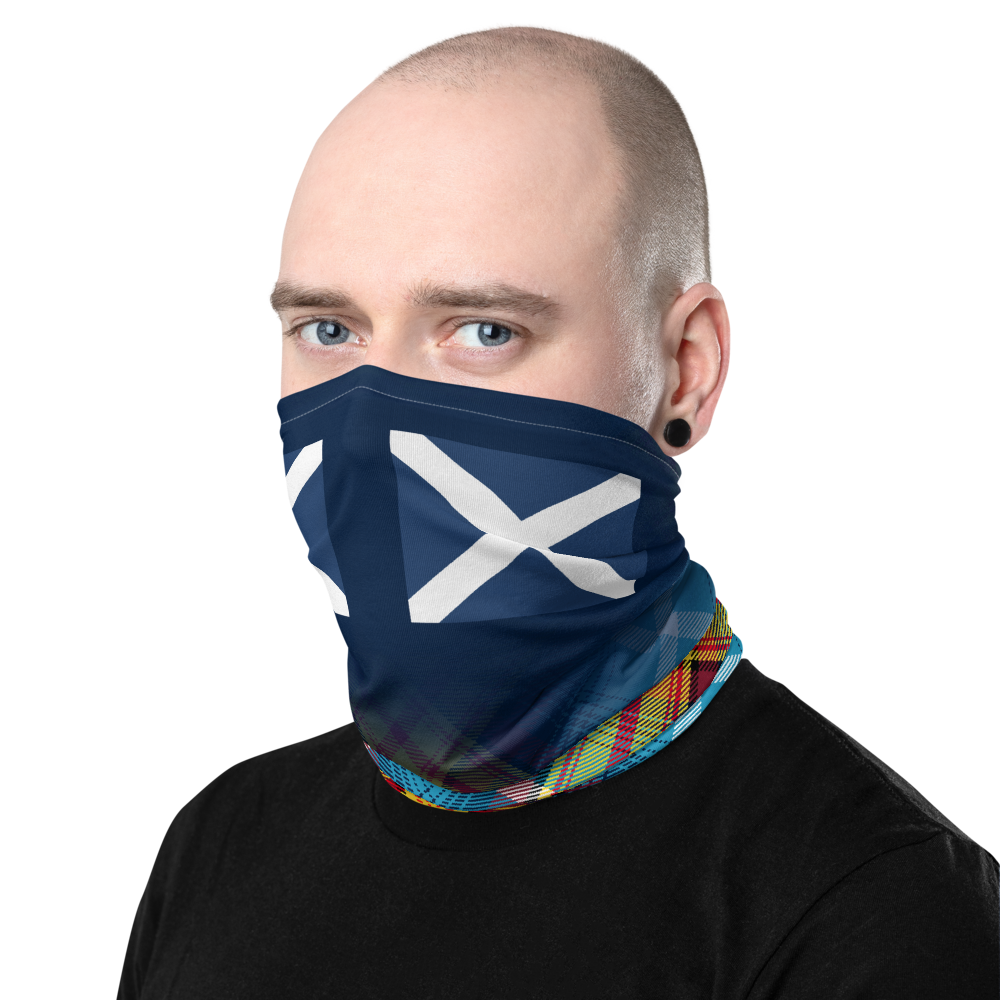 Saltire Declaration of Scottish Independence tartan Neck Gaiter 8