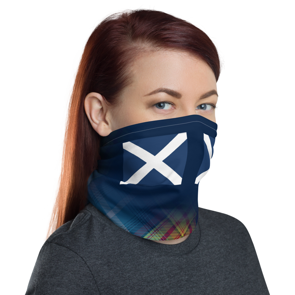 Saltire Declaration of Scottish Independence tartan Neck Gaiter snood bandana 3
