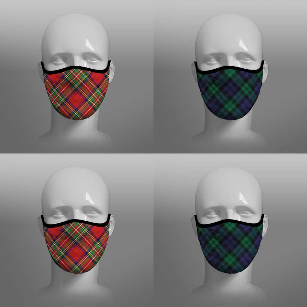 Royal Stewart tartan face covering - Nicola Sturgeon - by Steven Patrick Sim the Tartan Artisan - Stevie Tartan Guy - mixed pack of 4