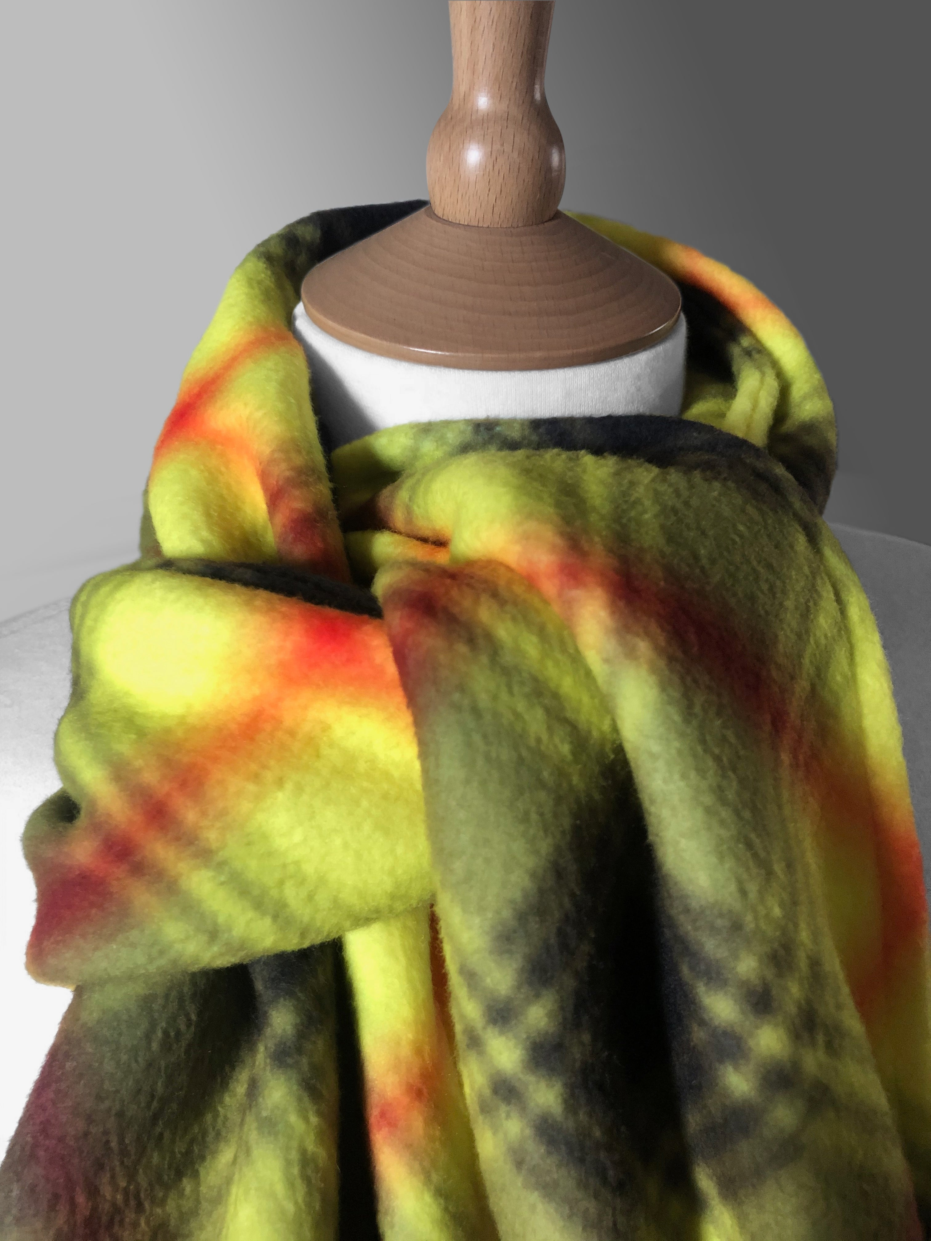 Be Aware Tartan Polar Fleece Scarf - Virohazard - by Steven Patrick Sim