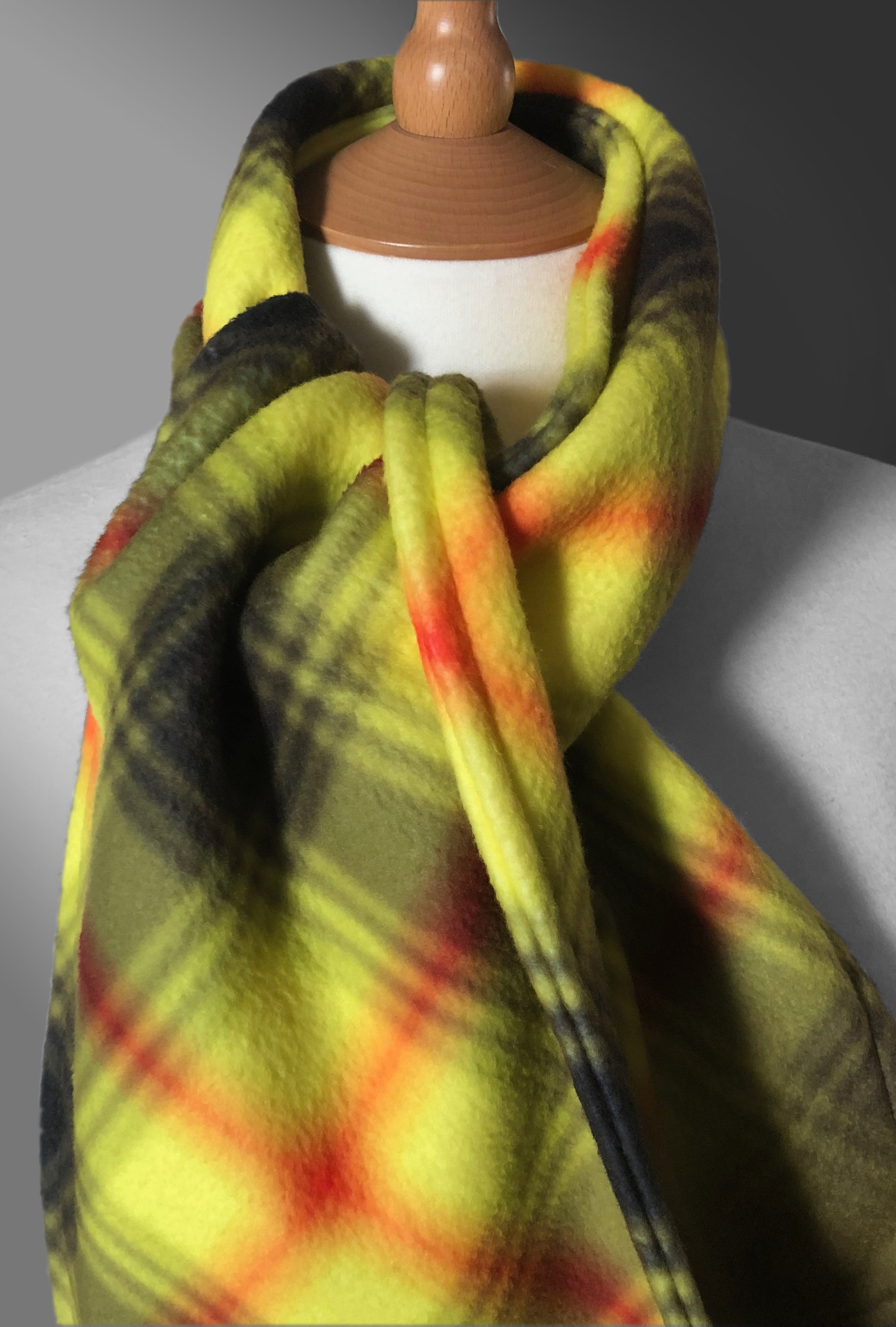 Be Aware tartan fleece scarf - Coronavirus Virohazrd - by the Tartan Artisan, Arbroath