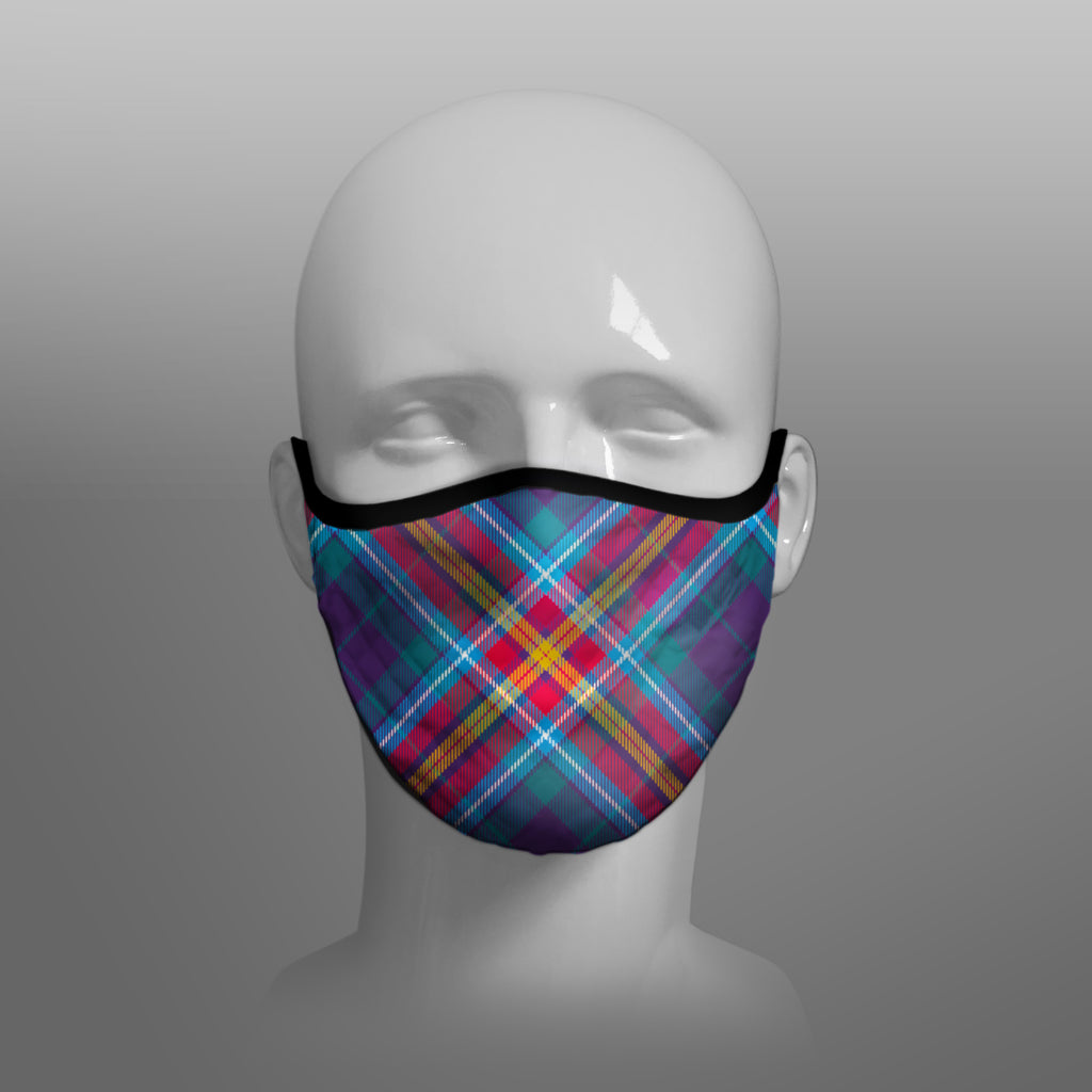 The YES IT'S TIME - Alba Gu Brath - Pro EU - European Union Scots Scottish Scotland - Nicola Sturgeon - Face Mask - face covering small - by Steven Patrick Sim the Tartan Artisan - Stevie Tartan Guy - featuring the Saltire