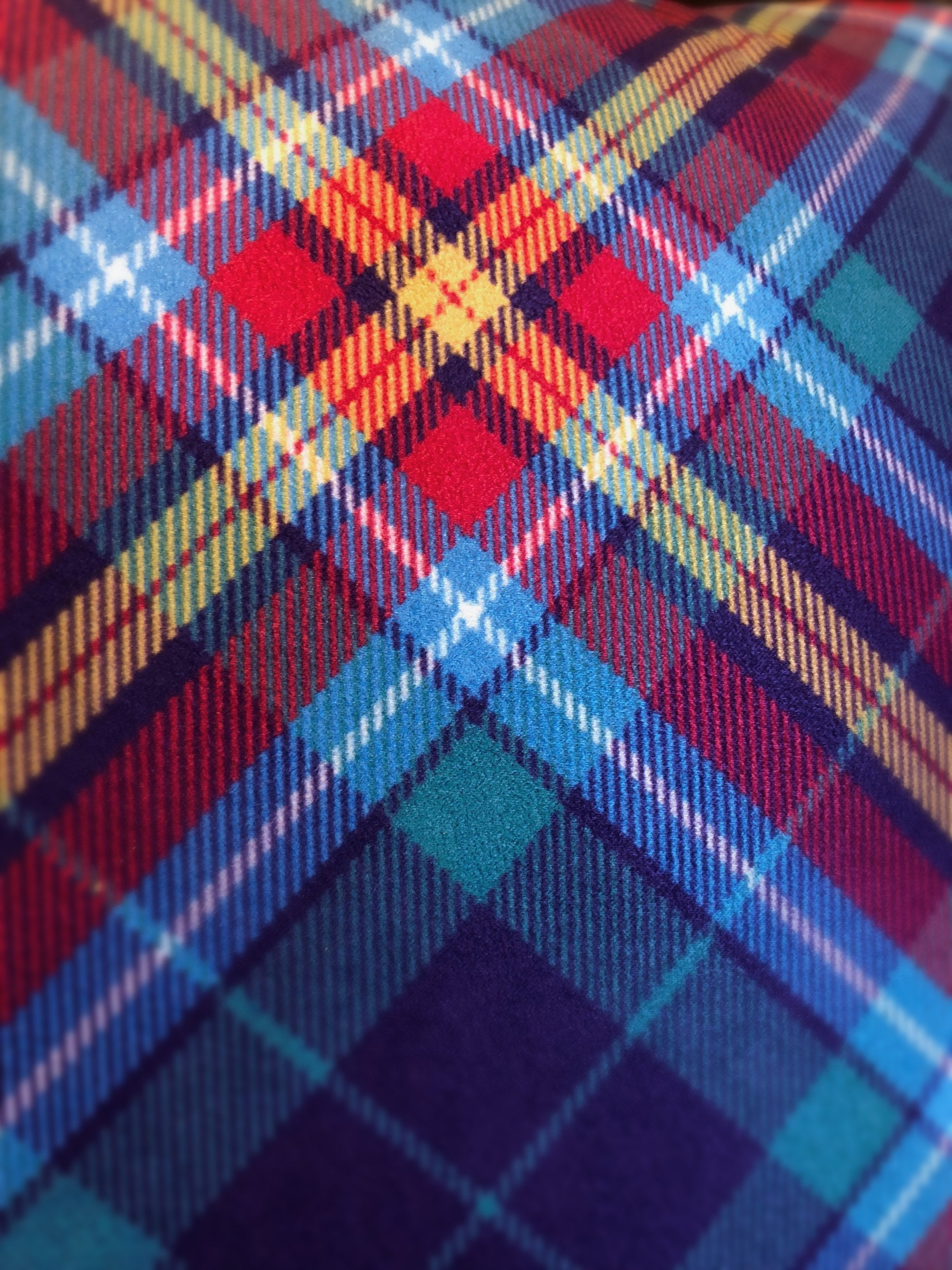 SNP Unofficial YES Tartan Cushion by Steven Patrick Sim