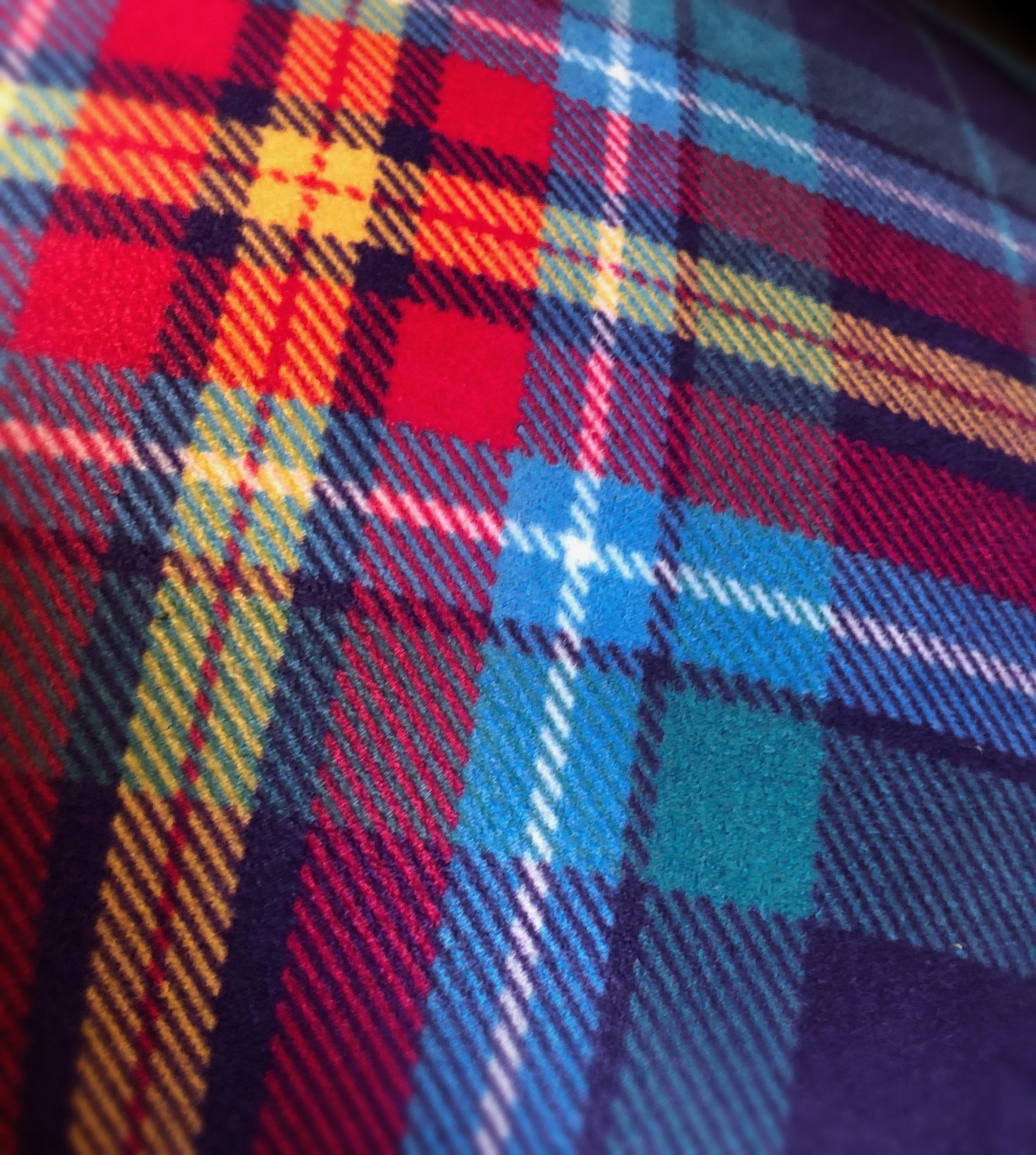 YES Tartan Cushion by the Tartan Artisan Steven Patrick Sim Arbroath