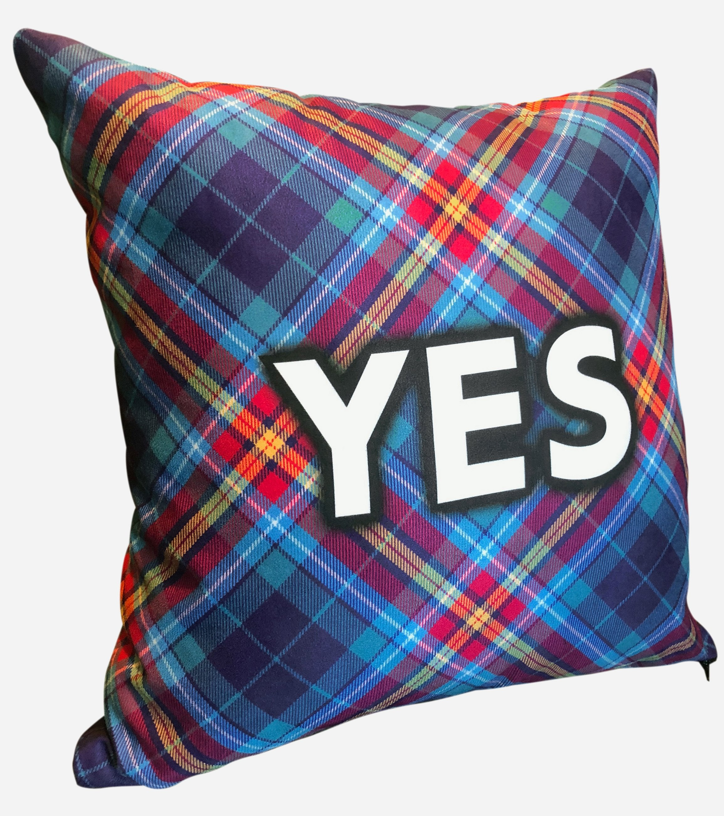 YES Tartan by Steven Patrick Sim - Alba gu bràth - The Faux Suede Cushion