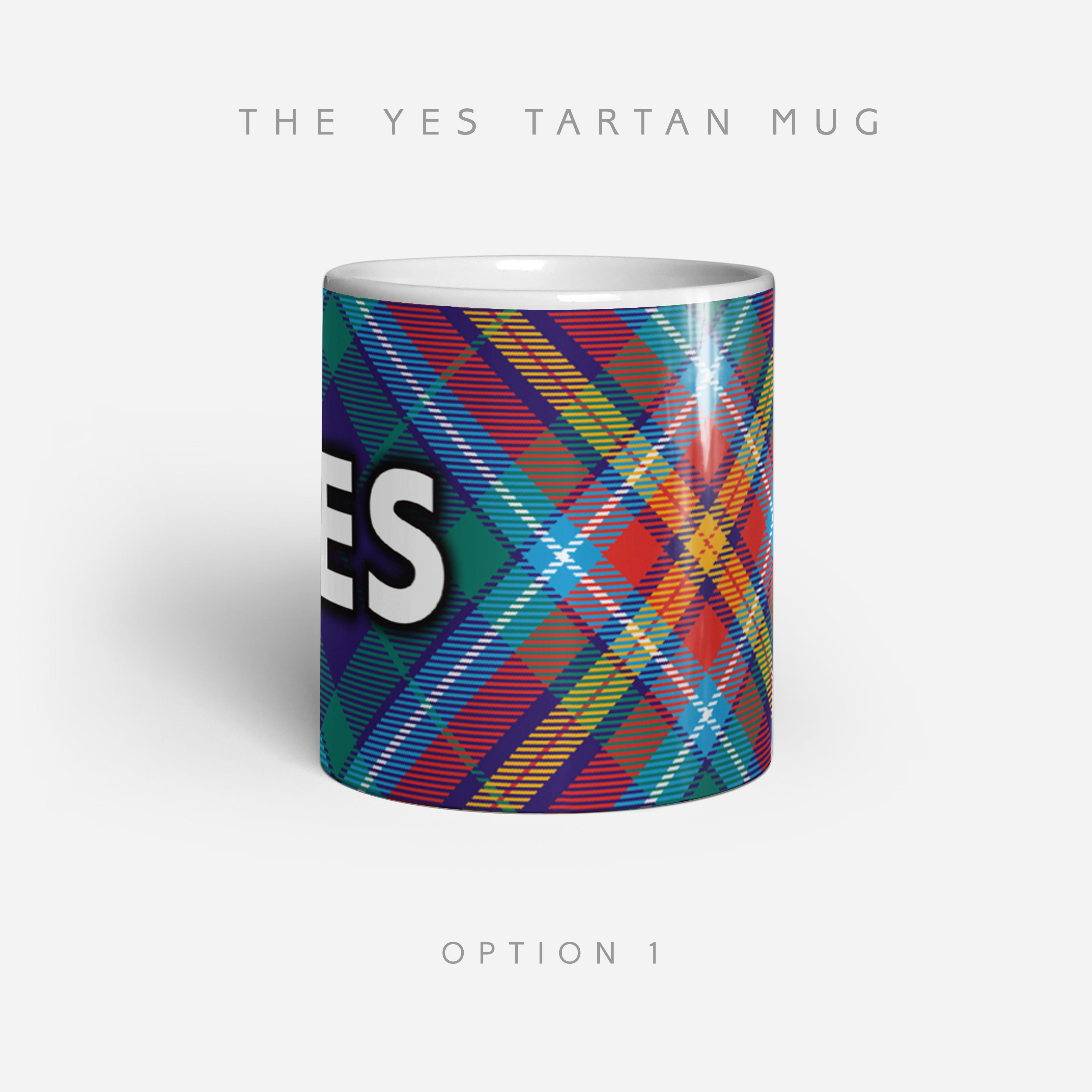 YES Tartan by Steven Patrick Sim - Alba gu bràth - The Ceramic 11oz mug
