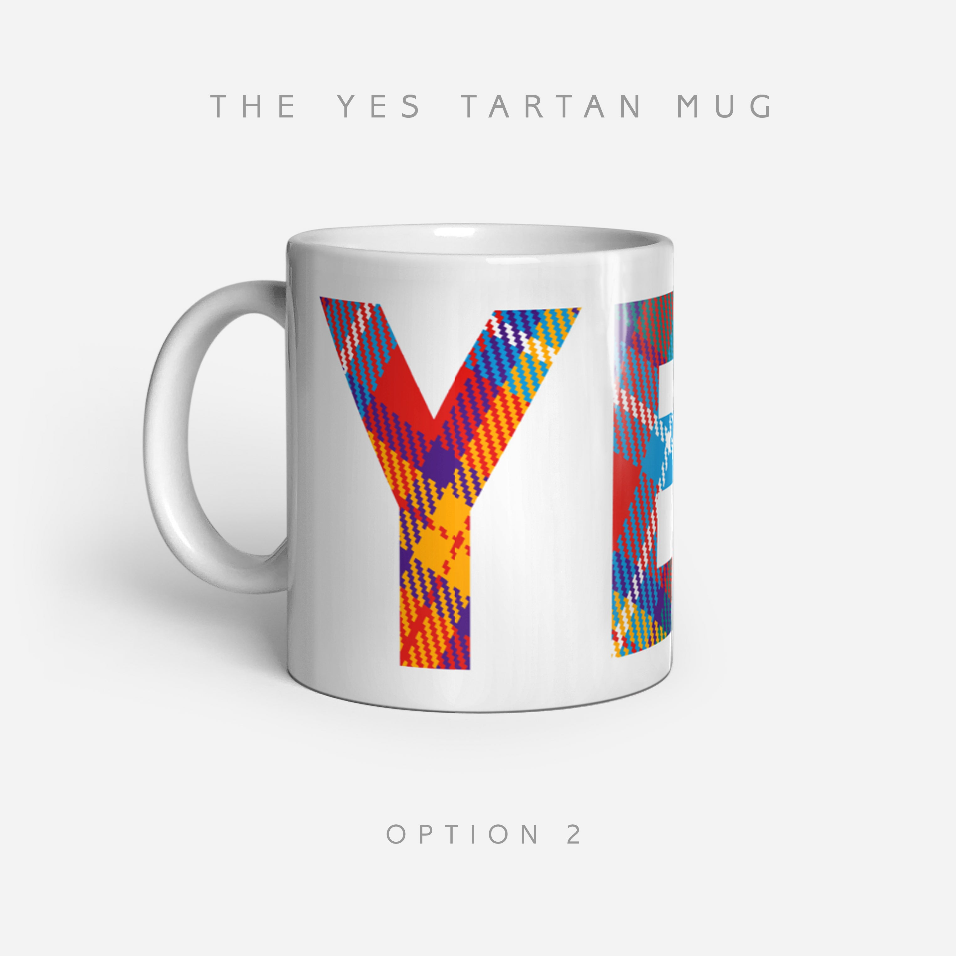 YES Tartan Mug by Steven Patrick Sim - Alba gu bràth Until Judgment