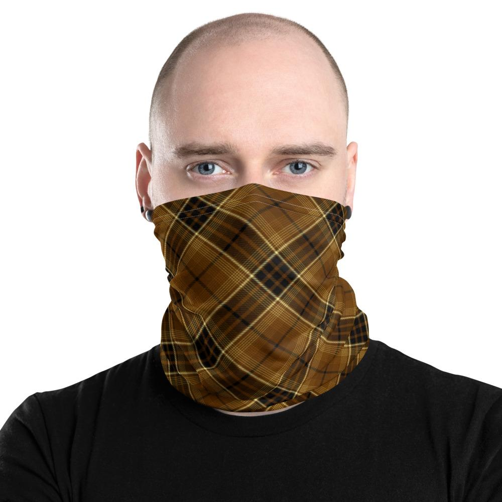 bitcoin Digital Gold Tartan Unisex Neck Gaiter - Small Sett 1