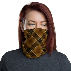 bitcoin Digital Gold Tartan Unisex Neck Gaiter - Small Sett 4