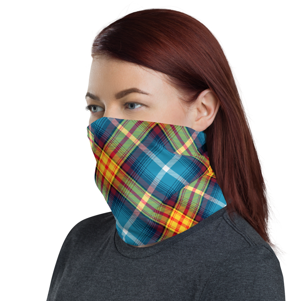 Lion Rampant and old Navy Saltire Declaration of Scottish Independence tartan Neck Gaiter 11