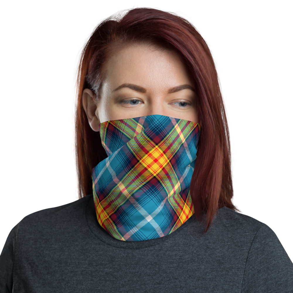 Lion Rampant and old Navy Saltire Declaration of Scottish Independence tartan Neck Gaiter 10