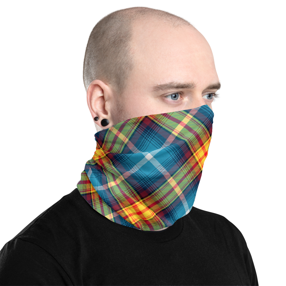 Lion Rampant and old Navy Saltire Declaration of Scottish Independence tartan Neck Gaiter 8