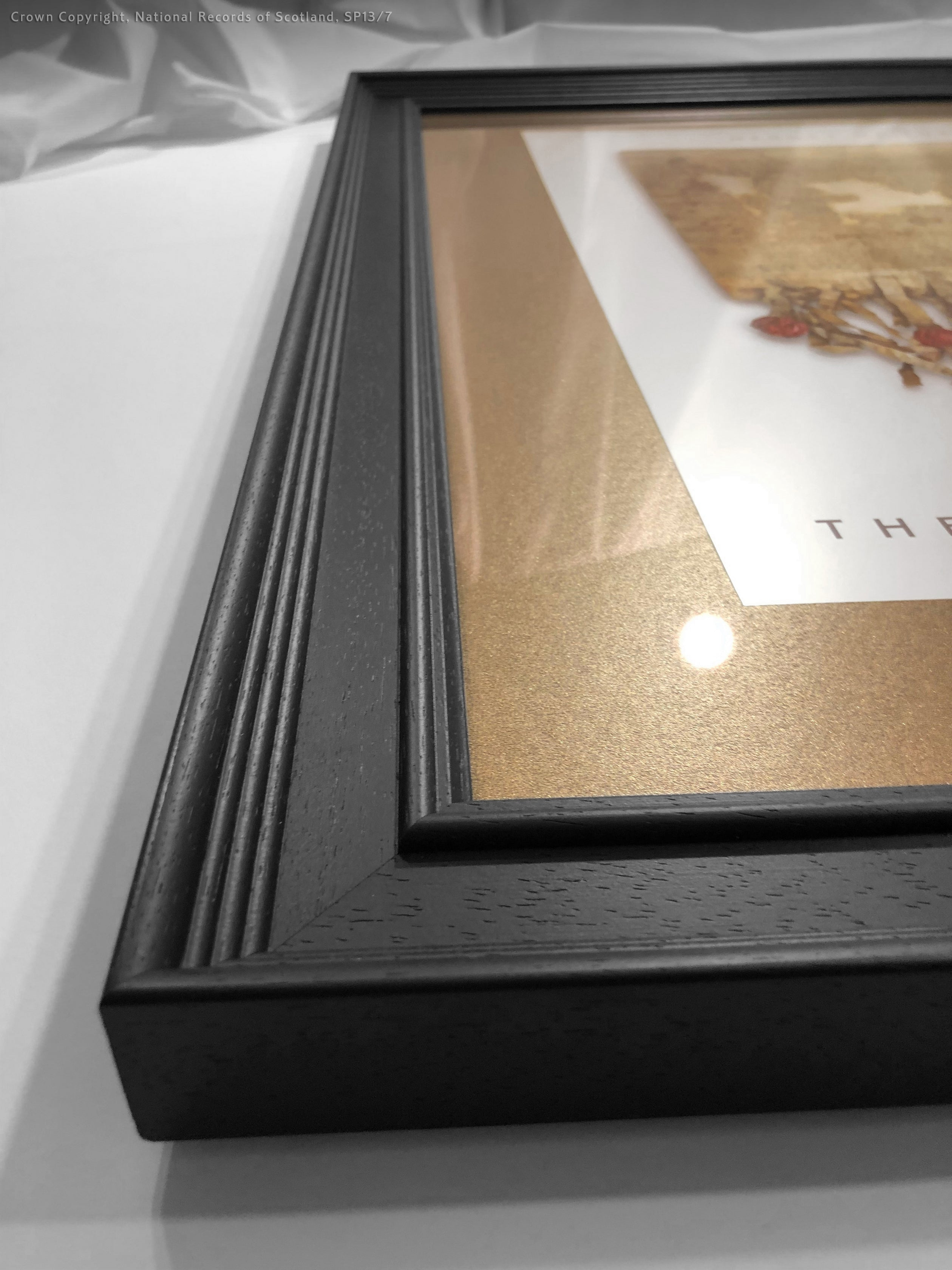 The Declaration of Arbroath Gold Metallic Print Editions - Pearl Framed with bronze mount