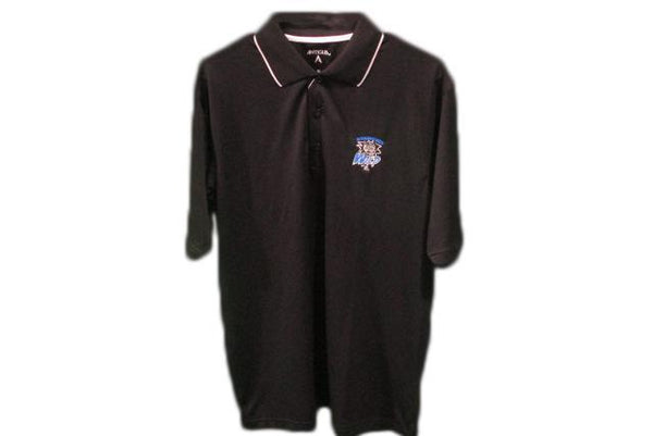 Adult Black/White Trim Golf Polo