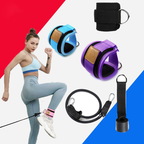 Resistance Bands with Ankle Straps Cuff with Cable for Attachment Booty Butt Thigh Leg Pulley Strap Lifting Fitness Exercise