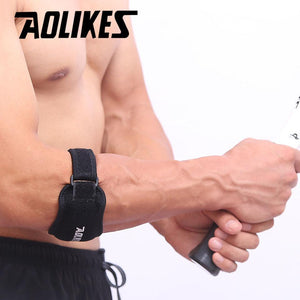 AOLIKES 1PCS Fitness Elbow Pad Tennis Badminton Coderas Muscle Pressurized Protective Adjustable