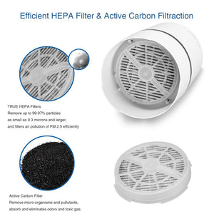 Air Purifier Cleaner for Home HEPA Filters 5v USB  cable Low Noise with Night Light Desktop GL2103
