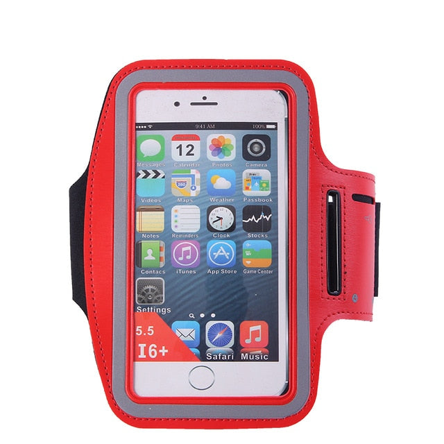 "Arm Running Bag 5.5"" Waterproof Running Accessories Phone Bag for Outdoor Gym Phone Cover for iPhone 8 Plus Armband   WX071"